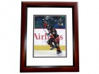 Theoren Fleury Signed - Autographed Calgary Flames 8x10 inch Photo MAHOGANY CUSTOM FRAME - Guaranteed to pass PSA or JSA