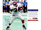 Thurman Thomas Signed - Autographed Buffalo Bills 16x20 inch Photo with 1991 MVP Inscription - PSA/DNA Certificate of Authenticity (COA)
