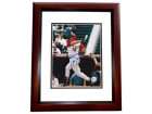 Tim Salmon Autographed California Angels 8x10 Photo MAHOGANY CUSTOM FRAME
