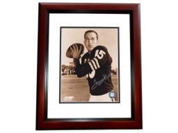 Tom Flores Signed - Autographed Oakland Raiders 8x10 inch Photo MAHOGANY CUSTOM FRAME - Guaranteed to pass PSA or JSA - 4x Super Bowl Champion