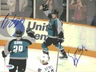 Ryan Clowe & Steve Bernier Autographed 8x10 Photo Sharks PSA/DNA #U96075