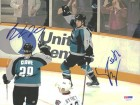 Ryan Clowe & Steve Bernier Autographed 8x10 Photo Sharks PSA/DNA #U96076