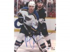 Pavol Demitra Autographed 8x10 Photo Blues PSA/DNA #U96212