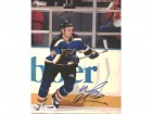 Pavol Demitra Autographed 8x10 Photo Blues PSA/DNA #U96216