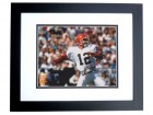 Vinny Testeverde Signed - Autographed Cleveland Browns 8x10 inch Photo BLACK CUSTOM FRAME - Guaranteed to pass PSA or JSA