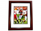 Vince Young Signed - Autographed Texas Longhorns 8x10 inch Photo - MAHOGANY CUSTOM FRAME - Guaranteed to pass PSA or JSA - 2005 NCAA National Champion