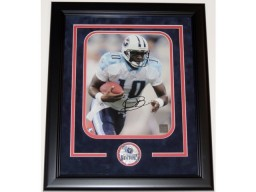 Vince Young Signed - Autographed Tennessee Titans 8x10 inch Photo BLACK CUSTOM FRAME - Guaranteed to pass PSA or JSA