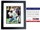 Warren Moon Signed - Autographed Houston Oilers 8x10 inch Photo BLACK CUSTOM FRAME - PSA/DNA Certificate of Authenticity (COA)