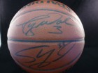 Miami Heat (Shaquille O'Neal / Dwyane Wade) Signed Indoor/Outdoor Basketball by Shaquille O'Neal and Dwyane Wade