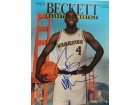 Chris Webber Signed Beckett Magazine (Cover Only, Dated: 11/1993)