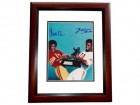 Charles White and Billy Simms Signed - Autographed Heisman Trophy 8x10 inch Photo MAHOGANY CUSTOM FRAME - Guaranteed to pass PSA or JSA