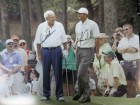 Arnold / Woods, Tiger Palmer Signed 16x20 Photo By Arnold Palmer and Tiger Woods