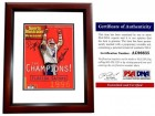 Danny Wuerffel and Steve Spurrier Signed - Autographed 1997 Sports Illustrated SI Magazine Cover MAHOGANY CUSTOM FRAME - 1996 National Champions - PSA/DNA Certificate of Authenticity (COA)