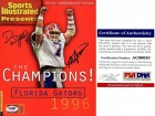 Danny Wuerffel and Steve Spurrier Signed - Autographed 1997 Sports Illustrated SI Full Magazine - 1996 National Champions - PSA/DNA Certificate of Authenticity (COA) - Florida Gators Heisman Trophy Winners