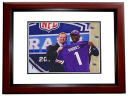 Xavier Rhodes Signed - Autographed Minnesota Vikings 8x10 inch Photo MAHOGANY CUSTOM FRAME - Guaranteed to pass PSA or JSA