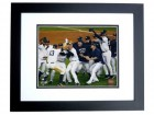 New York Yankees 2009 World Series Champs Pile Unsigned 8x10 inch Photo BLACK CUSTOM FRAME