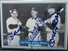 New York 1957 Yankees (Mantle/Berra/Ford) Signed 1982 The Mickey Mantle Story Baseball Card (# 29)