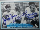 New York 1964 Yankees (Mantle/Pepitone/Ford) Signed 1982 The Mickey Mantle Story Baseball Card (# 51)