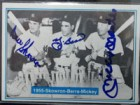 New York 1955 Yankees (Mantle/Berra/Skowron) Signed 1982 The Mickey Mantle Story Baseball Card (# 26)