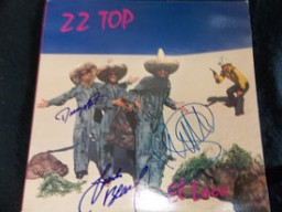 ZZ Top El Loco Signed Album Cover by Billy Gibbons, Dusty Hill, & Frank Beard