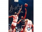 George Gervin HOF 96 Autographed / Signed 8x10 Photo NBA Greatest 50