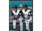 Charles Johnson & Edgar Renteria Autographed / Signed Marlins Magazine