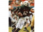 Jacory Harris Autographed / Signed Running with the Ball 8x10 Photo