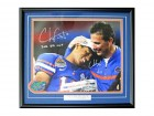 Chris Leak & Urban Meyer Autographed / Signed Framed 16x20 Photo