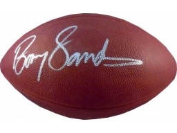 Barry Sanders Autographed NFL Football