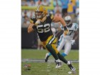 Clay Matthews Autographed Green Bay Packers Authentic Signed Football 16x20 Photo JSA COA Photo