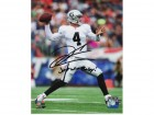 "Derek Carr Autographed 8x10 Photo with ""Just Win Baby! inscription #330"