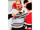 Bobby Hull The Golden Jet HOF 1983 Autographed / Signed Bloody Nose 16x20 Photo