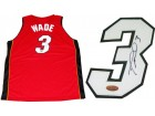 Dwyane Wade Autographed Miami Heat Red Custom Jersey