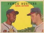 Hank Aaron & Eddie Mathews Unsigned 1959 Topps Card