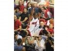 Dwyane Wade Autographed Black 2 Hand Dunk 16x20 Photo