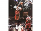 Dwyane Wade Autographed Rebound vs. Nets 16x20 Photo