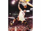 Dwyane Wade Dunking with Eyes Closed Autographed 16x20 Photo