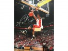 "Dwyane Wade Autographed ""Flash"" 2 Hand Dunk 16x20 Photo"
