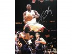 Dwyane Wade Autographed Over Vince Carter 16x20 Photo