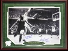Bill Russell and John Havlicek Autographed Framed 16x20 Photo