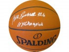 Bill Russell 11X Champion Signed Autographed Leather Basketball PSA
