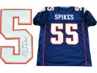 Brandon Spikes Autographed New England Patriots Blue Jersey