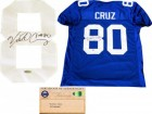 Victor Cruz Autographed New York Giants Blue Jersey