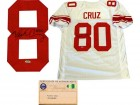 Victor Cruz Autographed New York Giants White Jersey