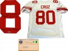 Victor Cruz SB XLVI Champs Autographed New York Giants White Jersey