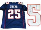 Patrick Chung Autographed New England Patriots Blue Jersey