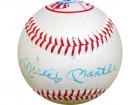 Mickey Mantle Autographed New York Yankees Logo Baseball