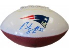 Brandon Spikes Autographed New England Patriots White Panel Football