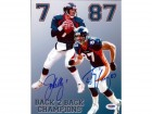 John Elway & Ed McCaffrey Autographed 8x10 Photo Denver Broncos PSA/DNA Stock #64941