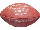 Joe Montana Autographed Multi Inscribed Official NFL Football (JSA)